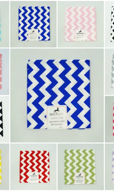 10mm Chevron Fat Quarters 100% Cotton Zig Zag