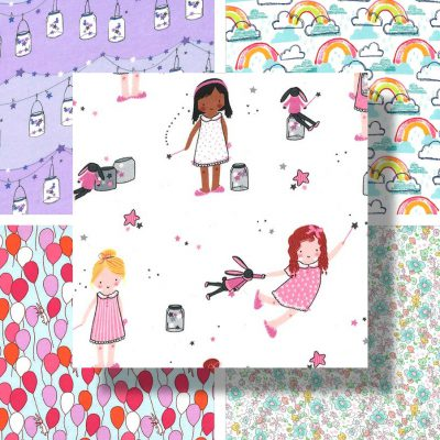 Twinkle Fairies Fabric- Michael Miller