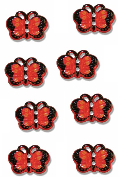 butterfly-buttons-plastic-red-colour