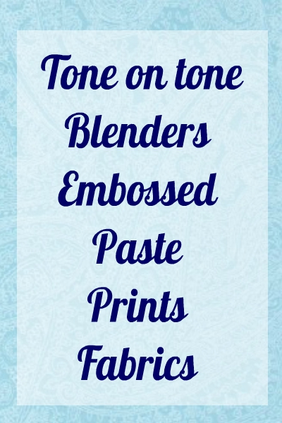 Tone on Tone and Paste Prints