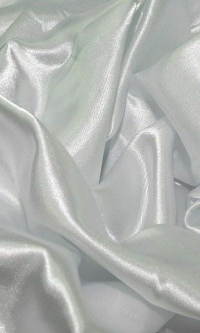 White Silky Satin Fabric Dress Making Material Lining 150cm/60""