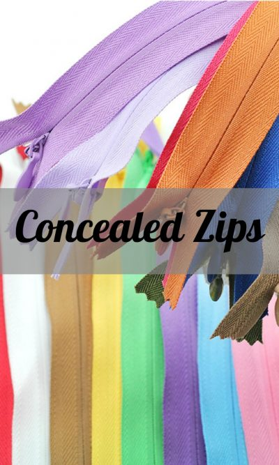 Concealed Zips