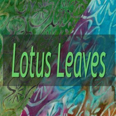 """Indonesian Bali Batik """"Lotus Leaves"""""""