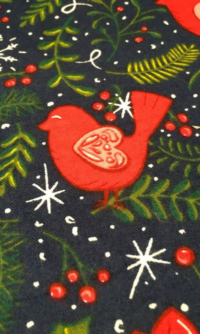 100-cotton-snuggle-flannel-fabric-navy-christmas-birds