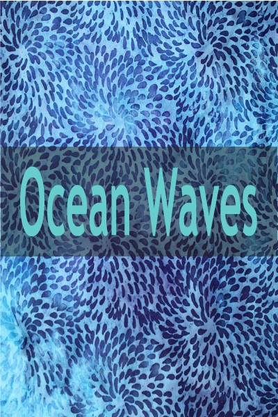 """Indonesian Bali Batik """"Ocean Waves"""""""