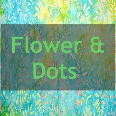 "Indonesian Bali Batik ""Flower and Dots"""