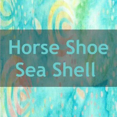 """Indonesian Bali Batik """"Horse Shoe Sea Shell Spots"""""""