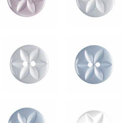 Flower Fisheye Button