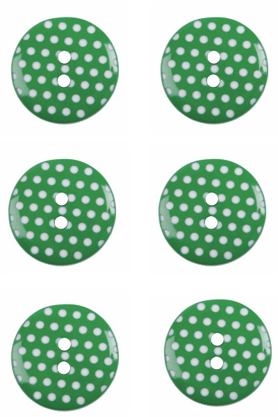 polka-dots-button-round-green-white-colour