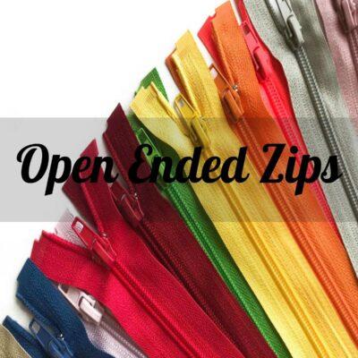 Open Ended Zip
