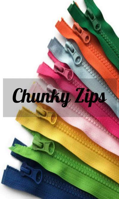 Chunky Open Ended Zip