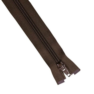 10-25cm-brown-open-ended-zip