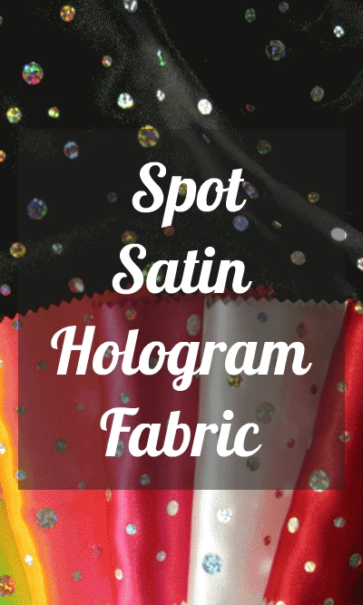 Spot Satin Hologram Fabric