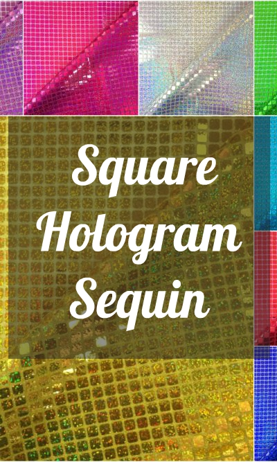 Square Hologram Sequin