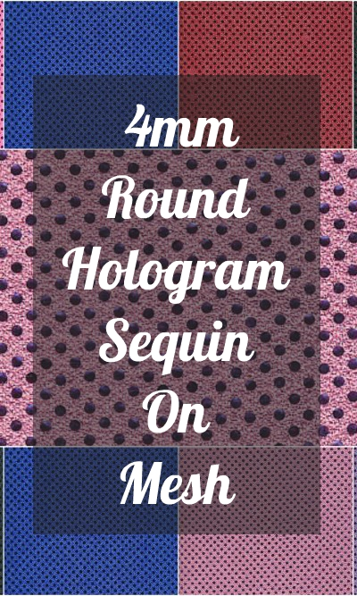 4mm Round Hologram Sequin On Mesh