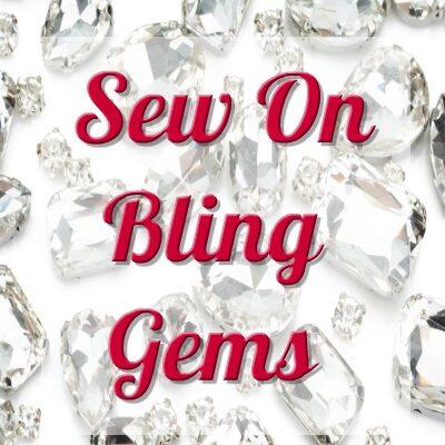 Sew on Bling Gems