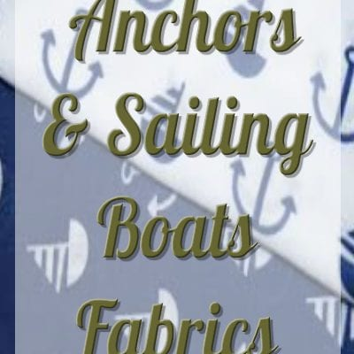 Polycotton Fabric Anchors And Sailing Boats