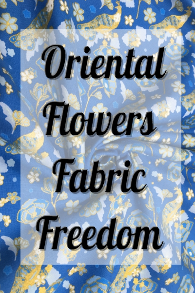 Fabric Freedom-Oriantal Flowers