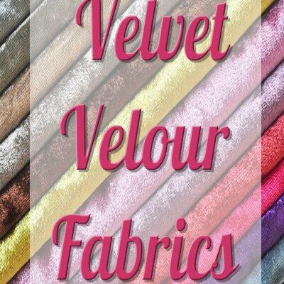 VELVET VELOUR Fabrics