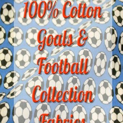 Goals & Footballs Collection Fabrics
