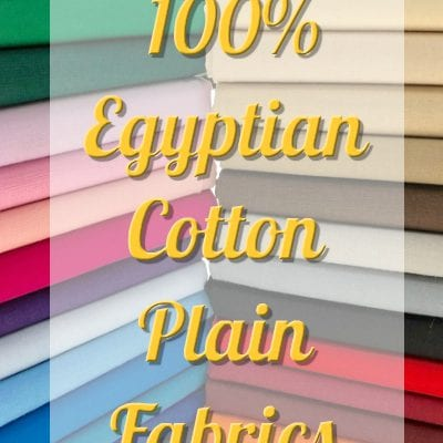 "60"" Wide PLAIN 100% Egyptian Cotton Fabric"