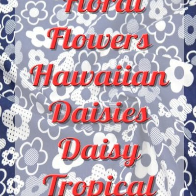 Polycotton Fabric Floral Flower Hawaiian Daisies Daisy Tropical