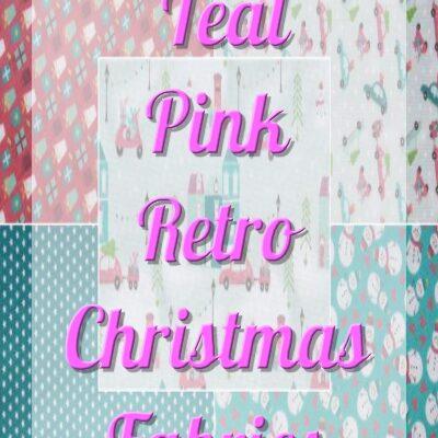 Teal Pink Retro Christmas