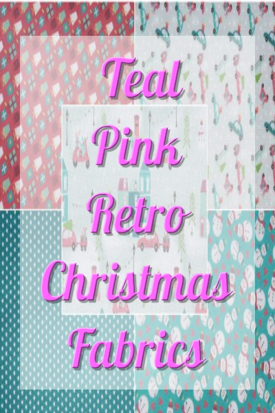 Teal Pink Retro Christmas
