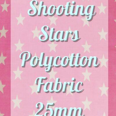 Shooting Stars Polycotton Fabric 25mm