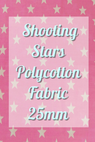 Shooting Stars Polycotton Fabric 25mm