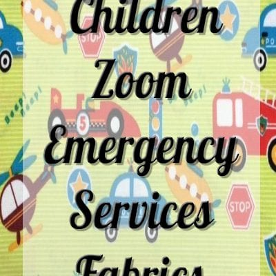 Children Zoom Emergency Services Fabric by Fabric Freedom