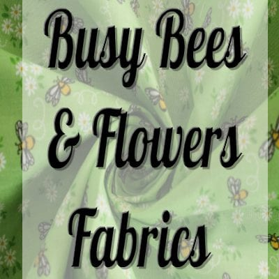 Busy Bees And Flowers Polycotton Fabric