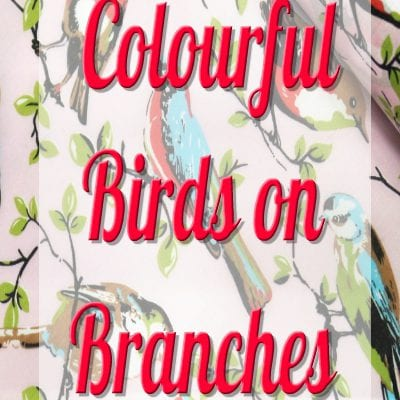 Colourful Birds On Branches /12 cm