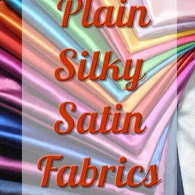 Plain Silky Satin Fabric