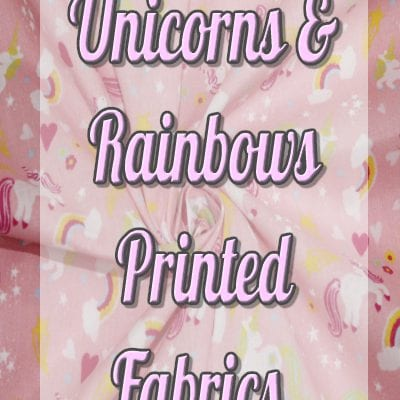 Unicorns & Rainbows Printed Fabrics