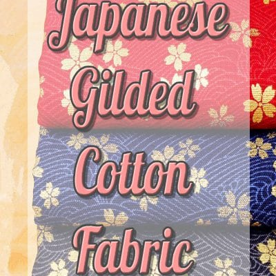 100% Cotton Japanese Gilded Fabric Multicoloured