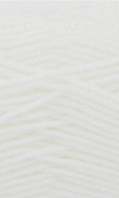White 100% Acrylic Wool/Yarn Pricewise Double Knitting King Cole - Code(036001) 100g